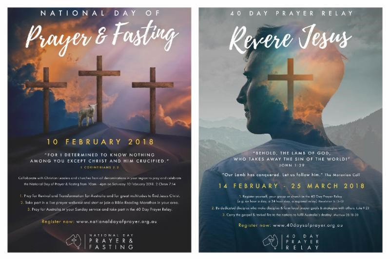 National Day of Prayer & Fasting 2018 poster