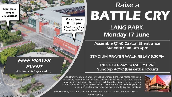 Prayer at Lang Park Suncorp 17June19 Flyer