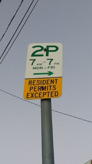 Suncorp Parking Sign Example 2