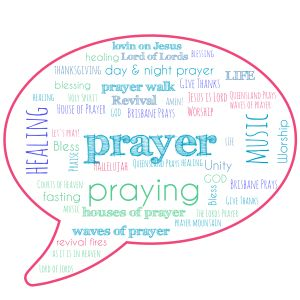 prayer wordcloud speechbubble