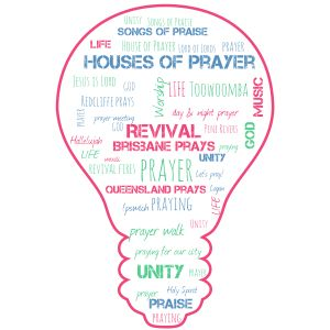 wordcloud prayer lightbulb