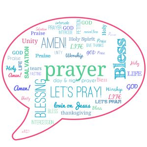 Wordcloud Prayer Caption