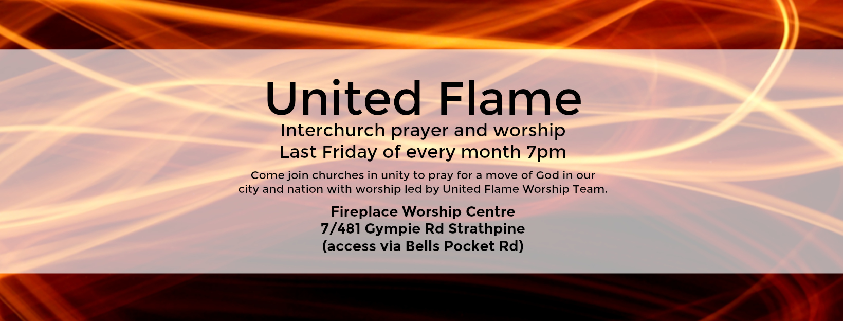 United Flame Strathpine Fire Banner